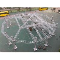 Portable Adjustable Aluminum Box Truss Mobile Stage For Exhibition Easy for sale