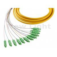 Buy cheap 1 Meter Fiber Optic Jumper Cables SM Simplex SC APC 12 Core Fanout Fiber Optic Pigtails from wholesalers