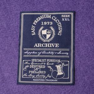 White Center Fold Cotton Neck Woven Garment Labels Main Lables