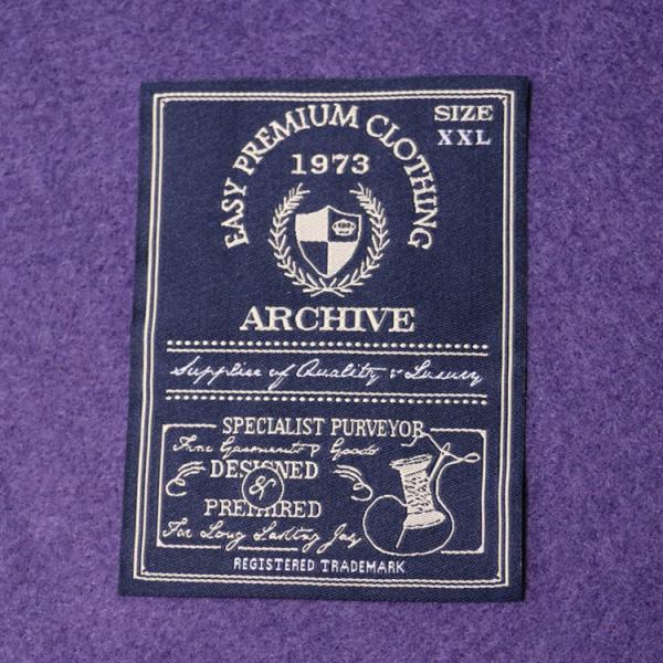 Quality White Center Fold Cotton Neck Woven Garment Labels Main Lables for sale