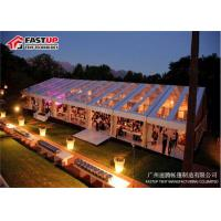 China Outdoor Meeting Aluminum Frame Canopy Tents With Sidewall No Deformation wholesale