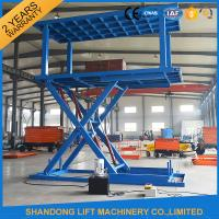 China Portable Scissor Lift Car Hoist Double Deck Car Parking System with Overload Protection wholesale