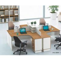 China modern 4 persons + type office table workstation in warehouse in Foshan wholesale