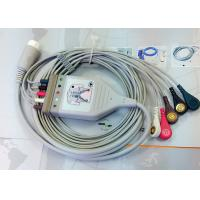 China Medical Compatible ECG Patient Cable 12 Pin One Piece Ecg Cables And Leadwires wholesale