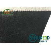 China Black Hair Interlining Fabric Interfacing Heavy Weight For Men's Suit wholesale