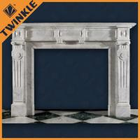 China French Style Marble Fireplace Surround Of Natural White Stone , Polished on sale