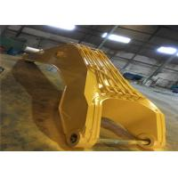 Yellow Color Durable Long Reach Arm Boom For Excavators To Desilting River