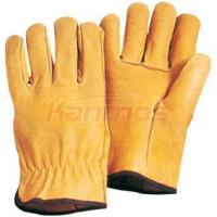China Household Straight thumb Yellow Pig Grain Leather Driving Gloves / Glove 22203 wholesale