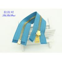 China Y Type Teeth Double Open Ended Zips , 12 Inch Heavy Duty Leather Jacket Zippers wholesale