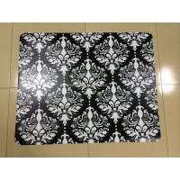 China Non Toxic Antistatic Black Chair Floor Mats , Durable Folding Carpeted Chair Mat wholesale