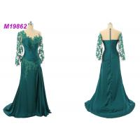 China Formal Mother Of The Bride Gowns , Emerald Green Mother Of The Bride Dresses wholesale