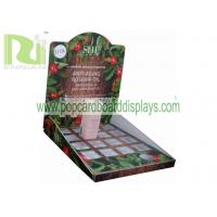 China Custom cosmetic point of sales grey board Cardboard Counter Displays units ENCD052 wholesale