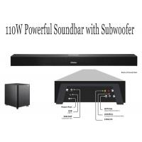 China Black Bluetooth TV Soundbar With Built In Subwoofer , Soundbar Speakers For TV wholesale