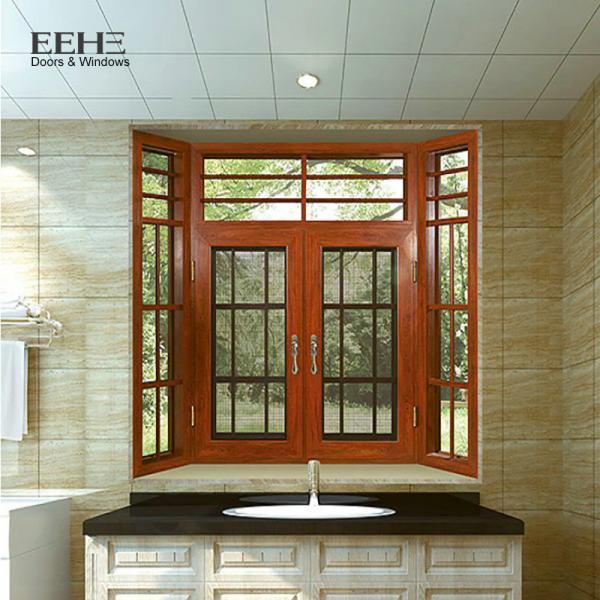 Quality Multi - Colors Aluminum Casement Windows For Home Flanged Sash Profile for sale