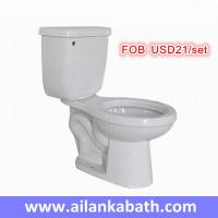 China hot sales promotion cheaper price 2 piece toilet S-trap 300mm roughing-in bathroom siphonic toilet wholesale