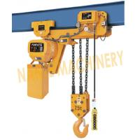 China 7.2 m / Min Max Lifting Speed 10 Ton Electric Chain Hoist For Single / Double Speed wholesale