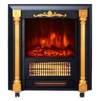 Buy cheap Movable Fireplace SF-1424 real log burning flame room heater infrared Quartz tube from wholesalers