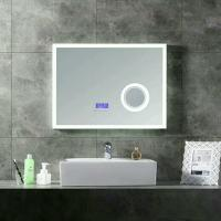 China Smart Light Up Vanity Wall Mirror With Radio / Shower Mirror With Bluetooth Speaker wholesale