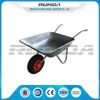 China Industrail Heavy Duty Wheelbarrow 7 CUB , Garden Wheel Cart Galvanized Color wholesale