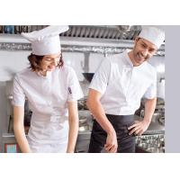 China Single Breasted Chef Cook Uniform Embroidered Chef Coats For Spring / Autumn / Winter wholesale