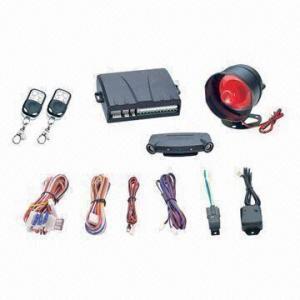 China One-way Car Alarm System with Ultrasonic Sensor and Blue Super Bright LED Indicator wholesale