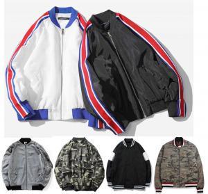 China Fashion Mens Plus Size Bomber Jacket , Varsity Style High School Bomber Jacket wholesale
