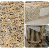 China Venetian Gold Solid Granite Worktops For Bathroom Vanity / Kitchen wholesale