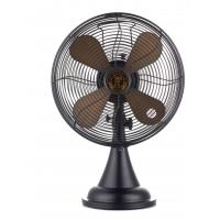 China Black Decorative Antique Electric Fans 30cm 3 Speed All Metal 4 Blade on sale
