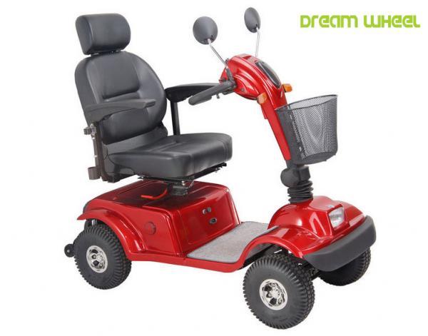 Quality Disable 600 Watt 4 Wheel Mobility Scooter 105Kgs Polyurethane Adjustable Seat for sale
