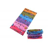 China Bicycle Simple UV Buff Headwear , Polyester Buff Tube Scarf Speed Dry wholesale