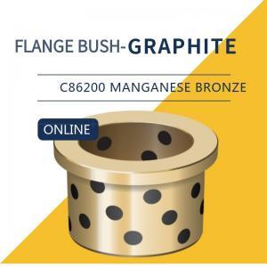 China UNS C86200 430A Manganese Bronze Bushing Plugged Graphite Cast Flange Bearings wholesale