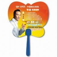 China Hand Fan, Suitable for Promotional Purposes, Made of PP, Customer's Logo Printings are Available wholesale