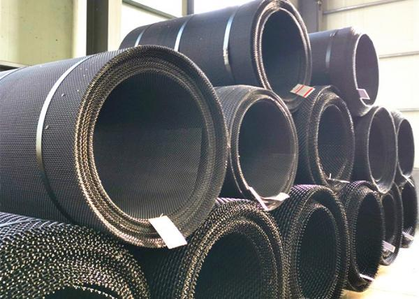 Quality Black Wire Steel Self Cleaning Screen Mesh For Quarry Industry Screen Seperating for sale