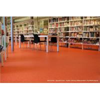 China Orange Rubberized Flooring Rolled Rubber Mats High Tensile for Library wholesale