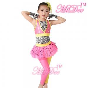 Buy cheap Zebra Hip Hop Dance Costumes Sequin Vest Two Color Lycra Pants For Girls from wholesalers