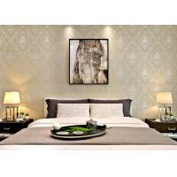 China European Retro Vintage Wallpaper Non woven with Elegant Floral and Bronzing Treatment on sale