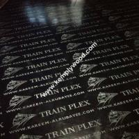 China Black film faced plywood with logo, black faced shuttering plywood, black film faced marine plywood on sale