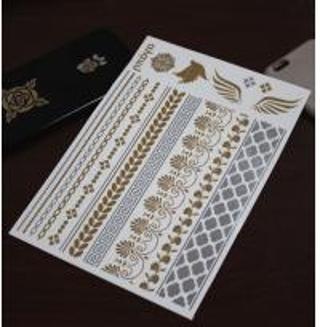 China High quality gold metallic tattoo on sale
