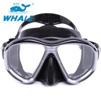 China Tempered Glass Diving Mask with Silicon Mouth Piece , Crystal Clear View wholesale