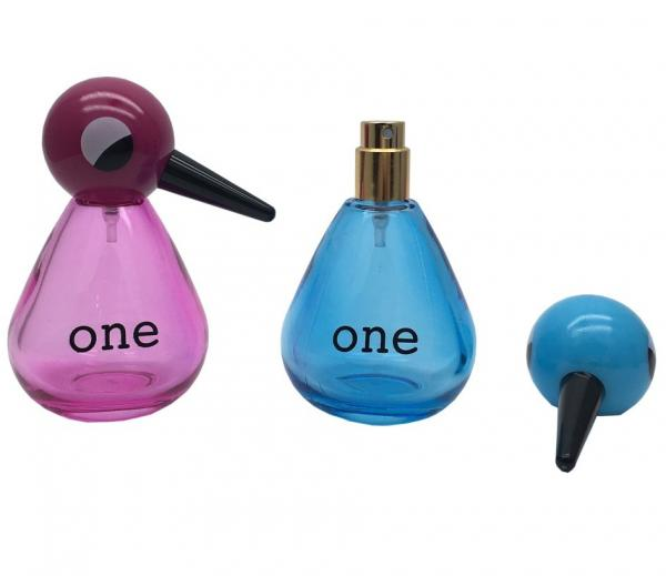 Quality Refillable Empty Glass Perfume Bottle 30ml 50ml  Bird Shape Perfume Spray Atomizer Bottles for sale