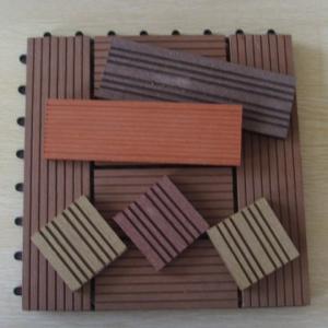 China Anti-slip Interlocking WPC DIY Tile Decking for Bathroom and Sunroom wholesale