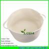 China LDKZ-061 white cotton rope storage basket with handles soft durable toy storage nursery bins wholesale