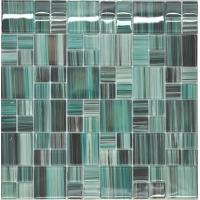 China Special green color mosaic glass tiles for sale on sale