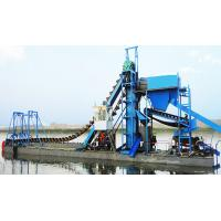 China 250 m3/h bucket chain sand dredger for alluvial sand  dredging and reclamation wholesale