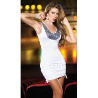 China Wholesale Hot Sale White Sequin Racer Back Mini Dress LR8162 wholesale
