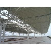 China Professional Steel Pipe Trusses Railway Station Stand Shed Painted Or Galvanized wholesale