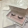 Cheap eyelash synthetic silk PBT/PET material tip mellow lashes gift flat box