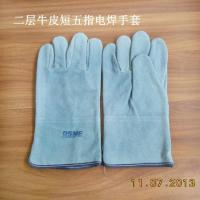 China cow split welding gloves, leather safety gloves on sale