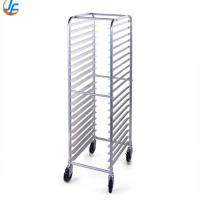 China Shelf 15 Story Baking Tray Trolley , Tiers Cart Oven Gastronorm Food Tray Rack Trolley wholesale
