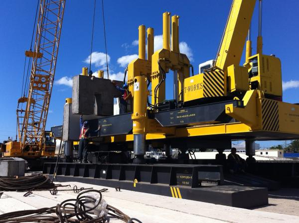Quality 360 Tons Hydraulic Pile Driving Machine / Preformed Pile Pressing Machines for sale